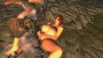 [Skyrim] Nuria, Neisa and Yuriana get fucked by Riekling tribe