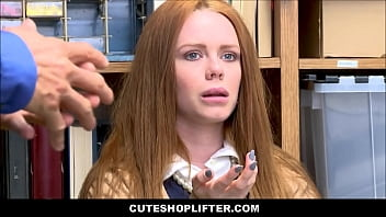 Sexy Thick Redhead Teen With A Juicy Ass Ella Hughes Caught Shoplifting Jewelry Fucked By Mall Cop