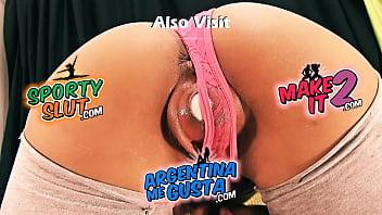 Hot Latina Teen Stretching Pussy With Baseball. Hot Body!