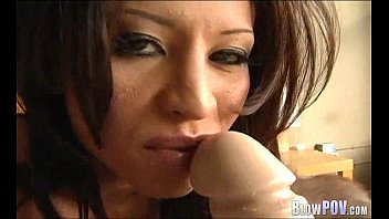Slut gives a sloppy bj 168