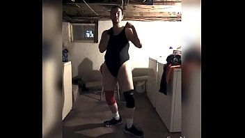 My wrestling bodysuit video and brief ready for mixed wrestling match