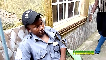 Security Officer Bang's His Boss's Visitor (outdoor Sex)