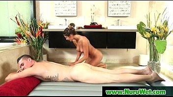 Sexy Sensual Masseuse GIves Nuru Massage And Wet Blowjob 20