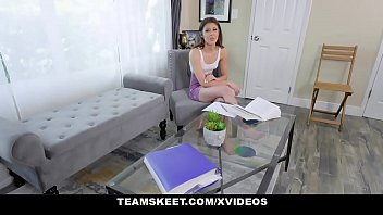 Teamskeet - Horny Stepdaughter (Catalina Ossa) Sucking Daddys Cock During Tutoring