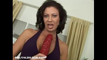 Brunette milf is fucked hard by a b. dildo machine thumbnail