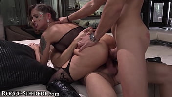 Rocco Siffredi's Roughly Gangbanged Hot MILFs COMPILATION