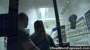 RealMomExposed - She Pays the Cashier With a Blowjob thumbnail