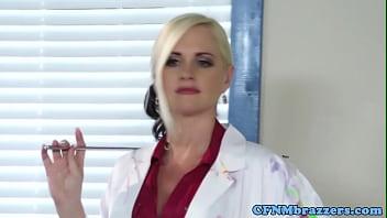 Cfnm Professor Swaps Cum With Nude Model