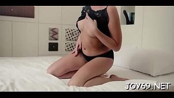 Dishy brunette Milana R. is doing a strip -tease 5 min