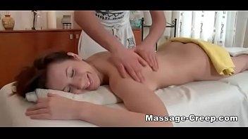 Nasty brunette russian wants to taste masseur
