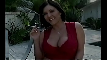 Smoking Scene With Busty Playgirl