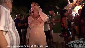 crazy toga party during public nudity festival in key west florida