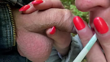 Blow Job and Smoking Two Cigarettes and Cum Shoot in My Mouth long com playing 5 min