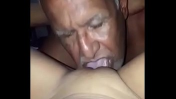 Old pervert sucking the young girl's pussy