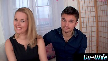 Blonde wife gets fucked with her husband watching porno izle