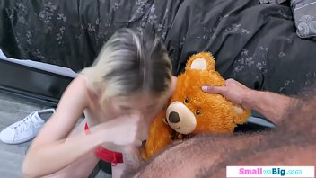 A petite teen rimmed then fucked by bf
