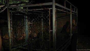 Blonde slavegirls freed from cage for kinky pleasure satisfaction 6 min