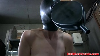 Breath play hooded sub cattle prodded thumbnail