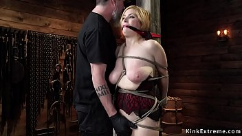 Busty slave gets toyed in suspension Preview