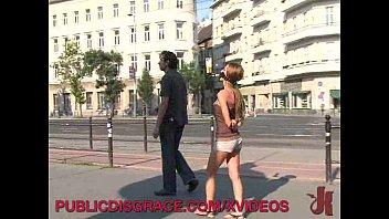 Submissive slut in public 9 min