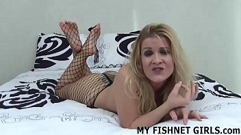 I can play with my pussy for you in nothing but fishnets JOI