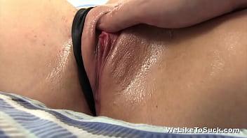 Slow sensual blowjob ending with cum swallow thumbnail