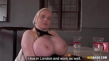 Full-bosomed blonde Jordan Pryce is tit fucked before having sex