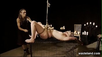 Submissive Blonde In BDSM Play With Props And Toys