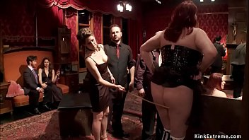 Whipping and banging in bdsm party