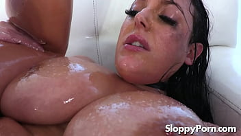 Angela White oiled slippery sex