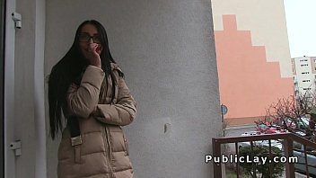Very hot Euro babe bangs in public stairwell thumbnail