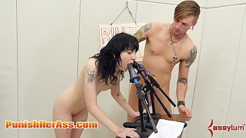 Hot Goth girl rims man ass