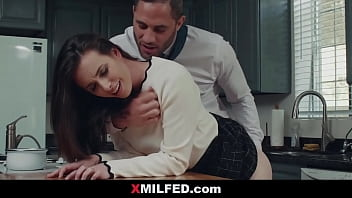 My Husband's Boss Penetrates Me on Kitchen | XMILFED.COM