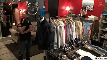Risky public sex in Japanese clothing shop Tsubasa Hachino 5 min