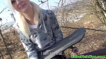 Pulled teens bj while waiting on the bus