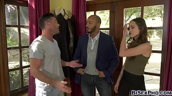 Lily Glee convinces her husband  Dillon Diaz to have a bisexual threesome with Glee's gay friend Lance Hart!