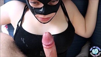 BRUTAL POV face fuck as April gets pinned and chokes on cock