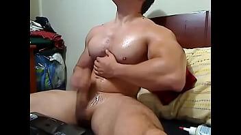 muscle boy cum