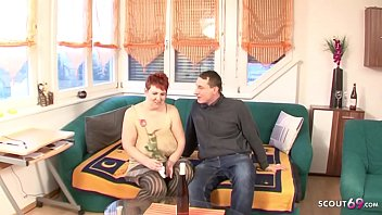 Saggy Tits Redhair Mature Seduce Young Boy to Fuck GERMAN 18 min