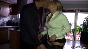 Horny mother fucks her brother-in-law after a family celebration