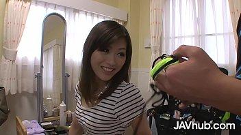 JAVHUB Saki Aiba gets double stuffed by two cocks thumbnail