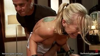 MILF housewife gets slave training
