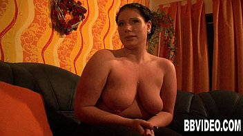 Horny german BBW masturbating her slit