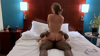 Hotwife Sarah riding BBC to multiple orgasms in front of cuck