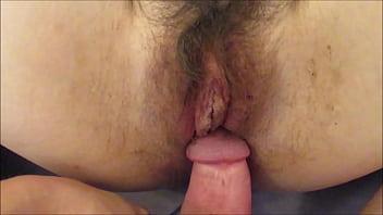 Creampie Inside Hairy Pussy Cum in Hot Mature Wife