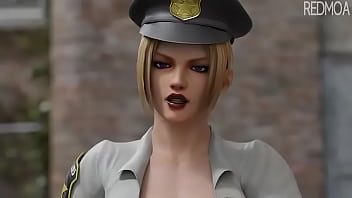 Female Cop Want My Cock 3D Animation