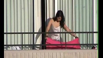 He fucks on the balcony