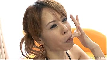 Horny Japanese Cutie Moe Aizawa Sucking A Beef Snake