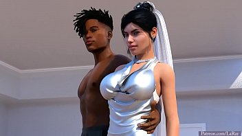 Hot white bride and bbc interracial...