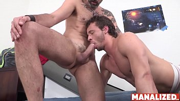 MANALIZED Young Nate Grimes Blows Daddy Before Bottoming Raw